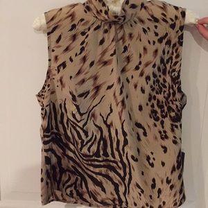 Cheeta design silk blouse